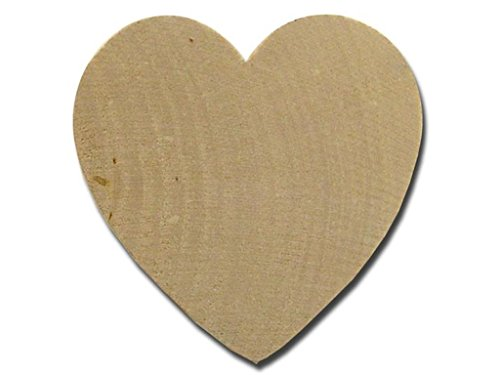 Lara's Wood 24pc Bulk Heart 2.5X.25 24 Piece