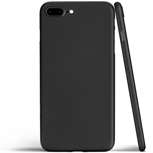 Totallee iPhone 8 Plus Case, Thinnest Cover Premium Ultra Thin Light Slim Minimal Anti-Scratch Protective - For Apple iPhone 8 Plus | totallee The Scarf (Matte Black) (Plus Iphone Scarf For)