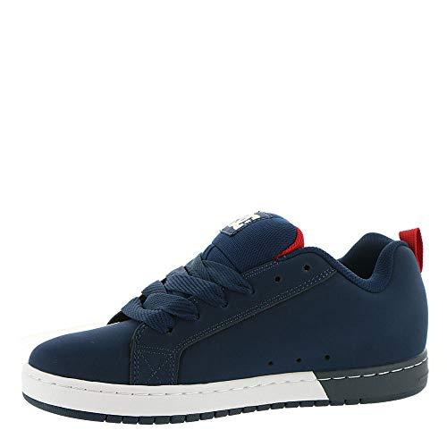 Dc Hommes Sq Red De Court Navy Graffik Skate Chaussures 6Bq1w