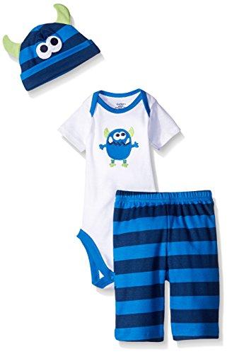 gerber-baby-three-piece-bodysuit-cap-and-pant-set-monster-6-9-months