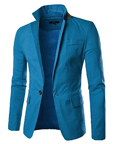 Slim Manteau Costume Essentiel Fit Outwear De Transition Veste 1 Business Hommes Les Élégant Casual Fashion Blau Blazer 4vqCngxwU