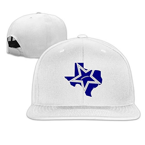 (Aiamu Funny Texas Map Cowboy Football Team Adjustable Cotton Hat Unisex Hip Hop Baseball Caps White)