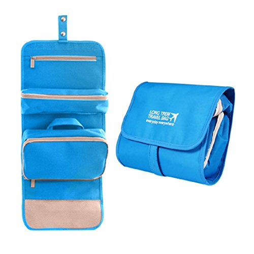 PACKNBUY Toiletry Cosmetic Bag Folding Travel Organizer