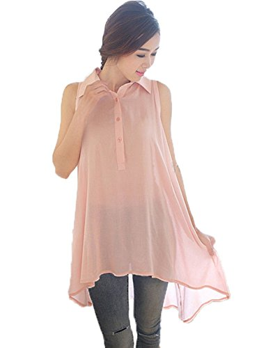 Korean Womens Sleeveless T shirts Blouse