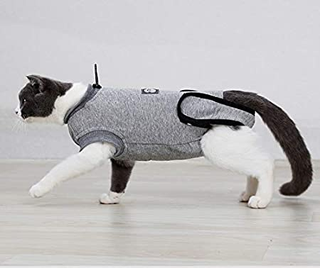 Breathable E-Collar Alternative S Rantow Pet Cat Recovery Suit Puppy Kitten After Surgery Wear Anti Licking Abdominal Wounds and Skin Diseases