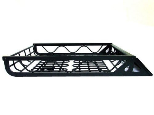 Rison® Black Aluminum Universal Roof Basket Cargo Carrier Rack Car SUV Top Luggage New!