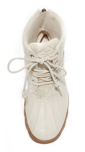 Sperry Wool Rain Tide Women's Saltwater Top sider Wedge Ivory Boot YSnr6qYaw0