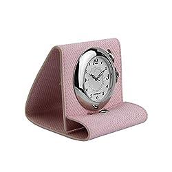 MONTBLANC Boheme Pink Leather Travel Alarm Clock Watch Swiss 36987 New Box
