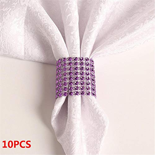 (Miao Express 10PCS Wedding Table Decorations Nickel or Rose Gold Plated Napkin)