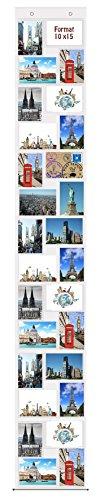 trendfinding® Fotovorhang 10 x 15 cm mit 28 Taschen Hochformat und Querformat Foto Bilder Postkarten Format Fotowand Fotogalerie Fototaschen Fotohalter Taschenvorhang Fotos