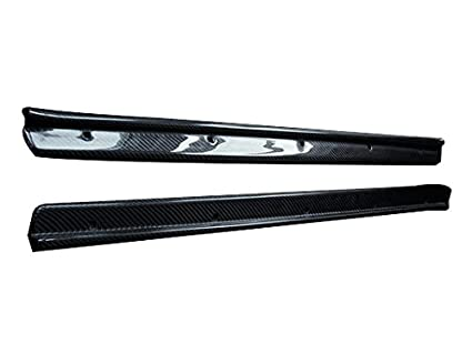Amazon com: Carbon Fiber Side Door Sill Plate Blade Panel Trims Add