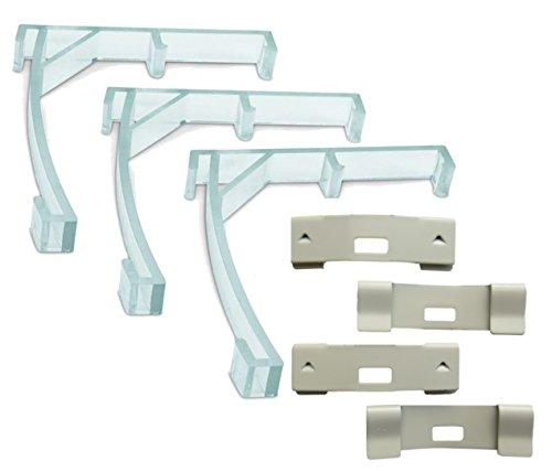 (spotblinds - Vertical Blind Repair Kit - Includes 3 Valance Clips & 4 Vane Savers (Ivory Vane Savers))