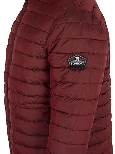 Dark Red Jacket Zip Double Superdry Fuji zvaSInq