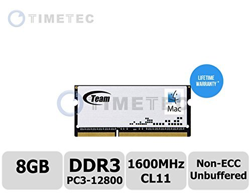 Timetec-Team-PN-TMD3L4G1600HC11-S01-4GB-DDR3-PC3-10600-1333MHz-Non-ECC-Unbuffered-CL11-1R-X8-135V-SODIMM-204-pin-Single-Rank-LaptopNotebook-Memory-Module-Upgrade-For-Apple-iMac-27-inch-Late-2013-Core-