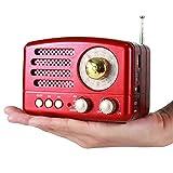 PRUNUS Classical Retro Wood Like FM AM SW SD USB MP3 Bluetooth Transistor