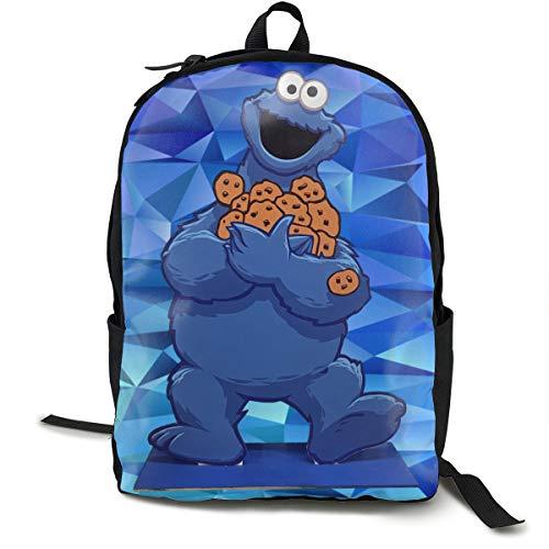 Tondgs Cookie-Monster Children Casual Style Backpack Daypack Bookbag Laptop School Bag Black One Size