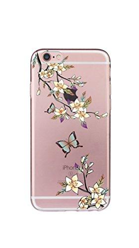 Case iPhone 8 Funda iPhone 7 Carcasa TPU Impresión Suave Ultra Slim / Resistente a los Arañazos Flexible Bumper Case Cover [Ultra-delgado] [Shock-Absorción] Protectora Contraportada Caja del Teléfono  Amarillo
