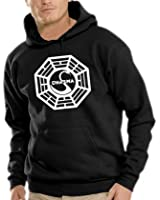 Touchlines Herren Lost Dharma Logo Kapuzen Sweatshirt B7018