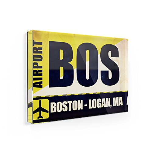 Fridge Magnet Airportcode BOS Boston - Logan, MA - - Boston Logan Ma