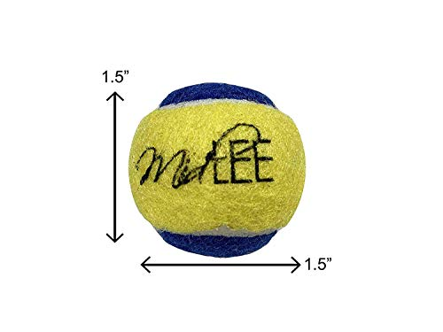 Midlee X-Small Dog Tennis Balls 1.5 Pack of 12 (Blue/Yellow, 1.5 inch)