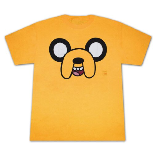 Change Yellow T-shirt (Adventure Time Men's Jake Face All Over T-shirt Yellow S)