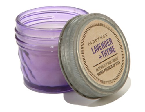 Paddywax Relish Collection Scented Soy Wax Jar Candle, 3-Ounce, Purple Lavender & Thyme