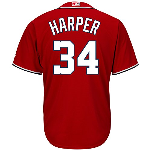(Majestic Athletic Washington Nationals Bryce Harper 2015 Cool Base Alternate Jer 2XL)