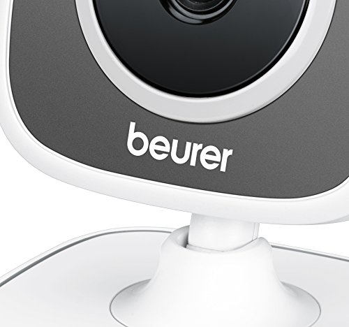 Beurer 952.64 BY 88 Smart Baby Monitor con Videocamera WiFi, Grigio