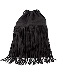 Black fringe sackpack- H & M