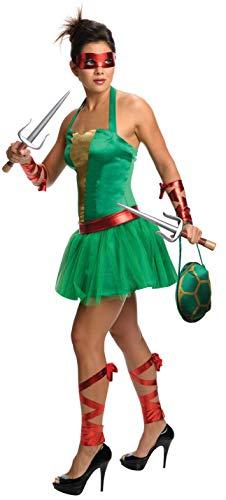 T.M.N.T. Female Raphael Costume Adult Medium Green -