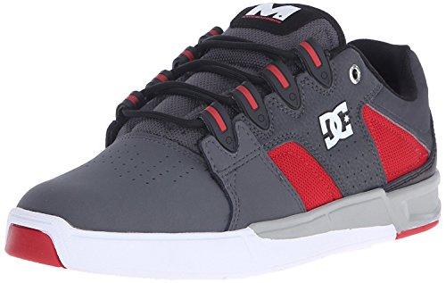 DC Mens Maddo Skate Shoe, Grey/Red/White, 40 D(M) EU/6.5 D(M) UK