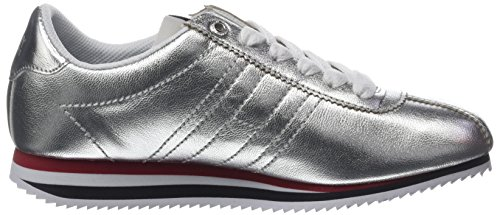 Silver Silver Jeans Silber Tommy Sneakers Sneaker 000 Basses Femme Retro TF7x4w1