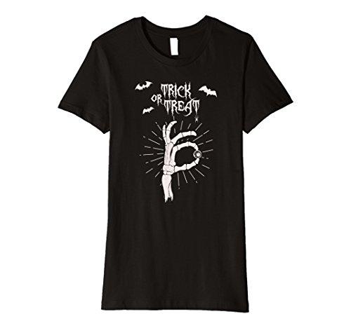 Womens Trick or Treat - Halloween Creative Costume Idea Shirt Large Black (Creative Female Halloween Costume Ideas 2017)