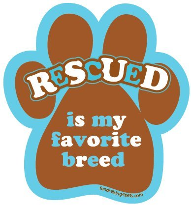 Rescued is My Favorite Breed Paw Magnet