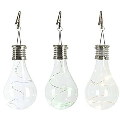 1PC Waterproof Solar Rotatable Outdoor Garden Camping Hanging LED Light Lamp Bulb