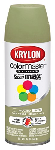 Interior Paint Aerosol - Krylon K05200207 Avocado 'Satin Touch' Decorator Spray Paint - 12 oz. Aerosol