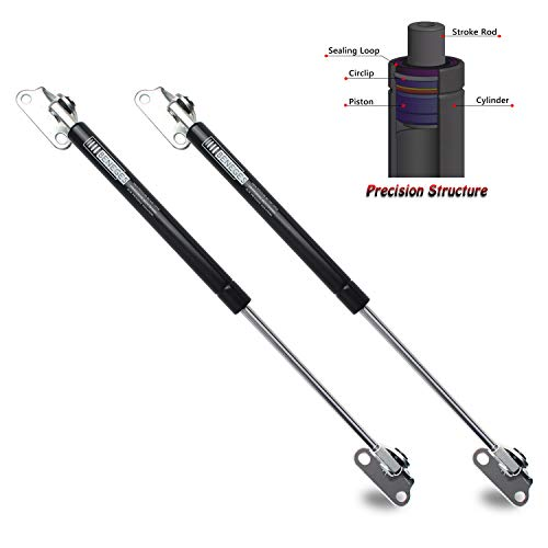 (Beneges 2PCs Universal Gas Charged Lift Supports Spring Struts Shocks Dampers Force 67 Lbs/300 N Per Prop, Force Per Set 134 Lbs/600 N, Extended Length 15 inches with L-type Mounts)