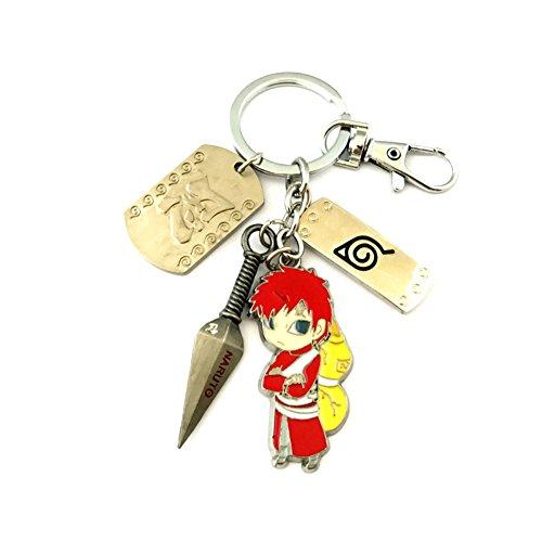 Anime Classic Naruto Gaara The 5th Kazekage Keychain w/Gift Box