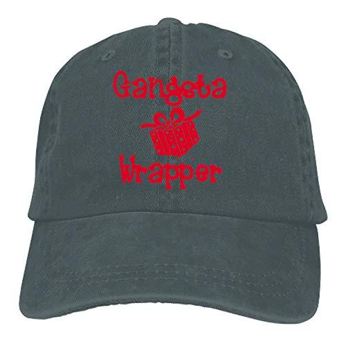 nadoab Gangsta Wrapper Denim Baseball Caps Hat Adjustable Cotton Sport Strap Cap for Men ()