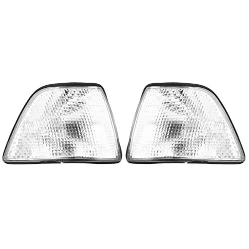 VGEBY 1Pair Turn Signal Light Covers Lamp Lens Shades Replacement for BMW 3 Series 318i 318ti 325i 328i M3 E36 4DR Sedan/Wagon 1992-1998