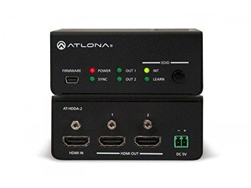 Atlona AT-HDDA-2 | 1 x 2 HDMI Distribution Amplifier 4Kx2K