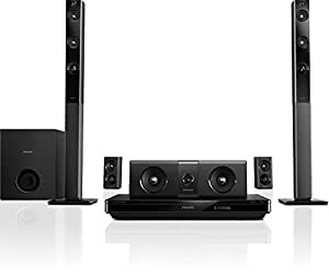 Philips HTB5544D/F7 Home Theater with Tall Boy Speakers (Black)