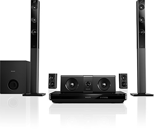 Philips HTB5544D/F7 Home Theater with Tall Boy Speakers (Black) (Philips Home Theater System)