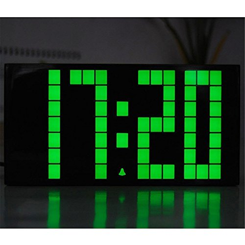Denshine Big Jumbo LED Snooze Wall Desk Alarm Clock with Thermometer Indoor Home Room Office Wall Decor