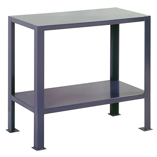 Edsal WMT3618 Steel Extra Heavy Duty Welded Work Table with Shelf, Pre-Assembled Assembly Type, 2000 lb. Capacity, 1 Level, 36'' W x 18'' D x 32'' H, Industrial Gray by EDSAL (Image #1)