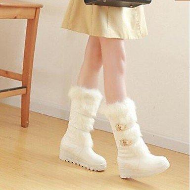 3 2 Botas en Botas casual 2 de Invierno de PU Negro confort de de 4 blanco moda moda mujer confort de en Botas blanco S4xwCRqTR