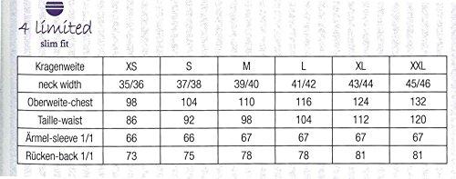 Bügelfreies Herren Slim Fit Hemd in verschiedenen Farben, Marke Redmond (400130), Größe:L;Farbe:Weiß(0)