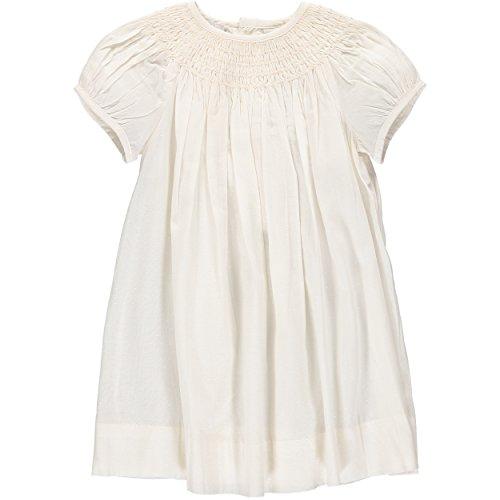 Dresses Infant Bishop (Carriage Boutique Baby Girl Classic Bishop Dress & Bonnet - Cream, 6M)