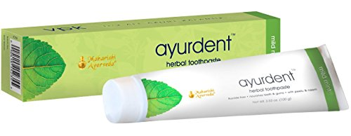 Ayurdent Toothpaste - Mild Mint | 3.53 oz. | With Peelu & Neem | For Healthy Teeth & Gums | Natural Whitening | No Fluoride | No Sodium Lauryl (Peelu Gum Peppermint Sugar)