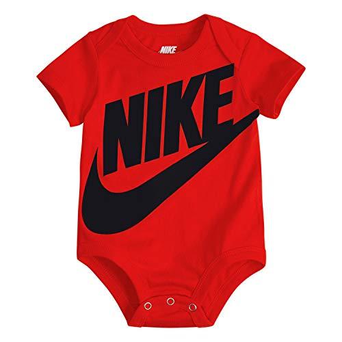 NIKE Children's Apparel Baby Sportswear Graphic Bodysuit, University Red, 9M